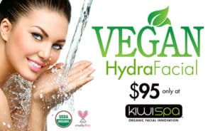 Kiwi Spa Organic facial innovation vegan special