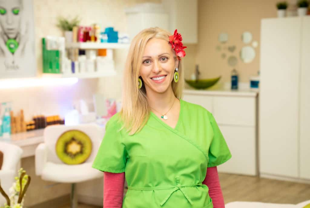 Kiwi Spa Maya The founder and esthetician